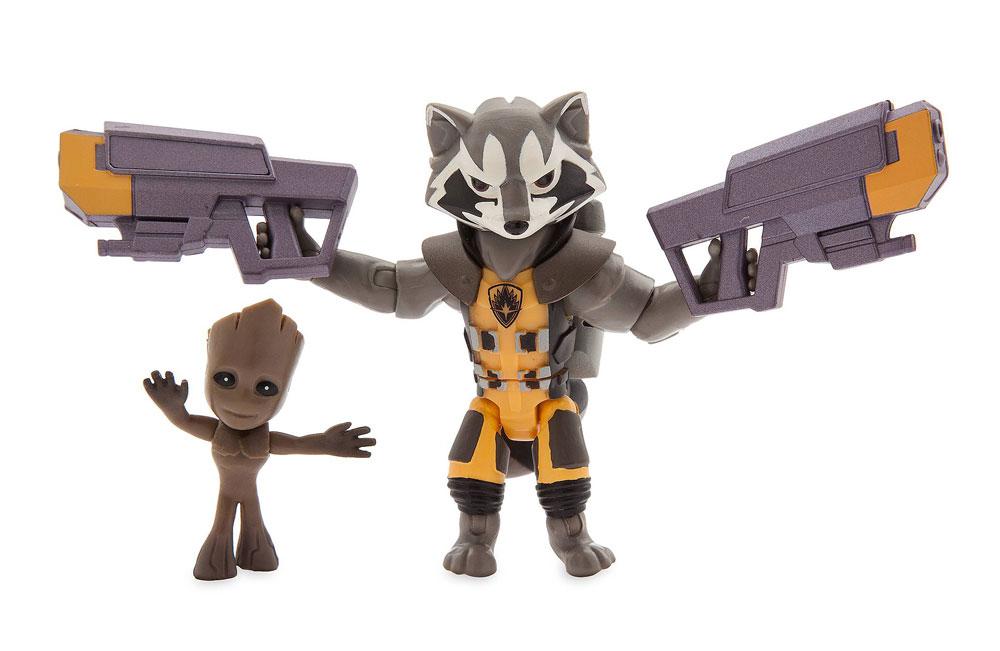 Muñecos de Rocket y Root Marvel Toybox