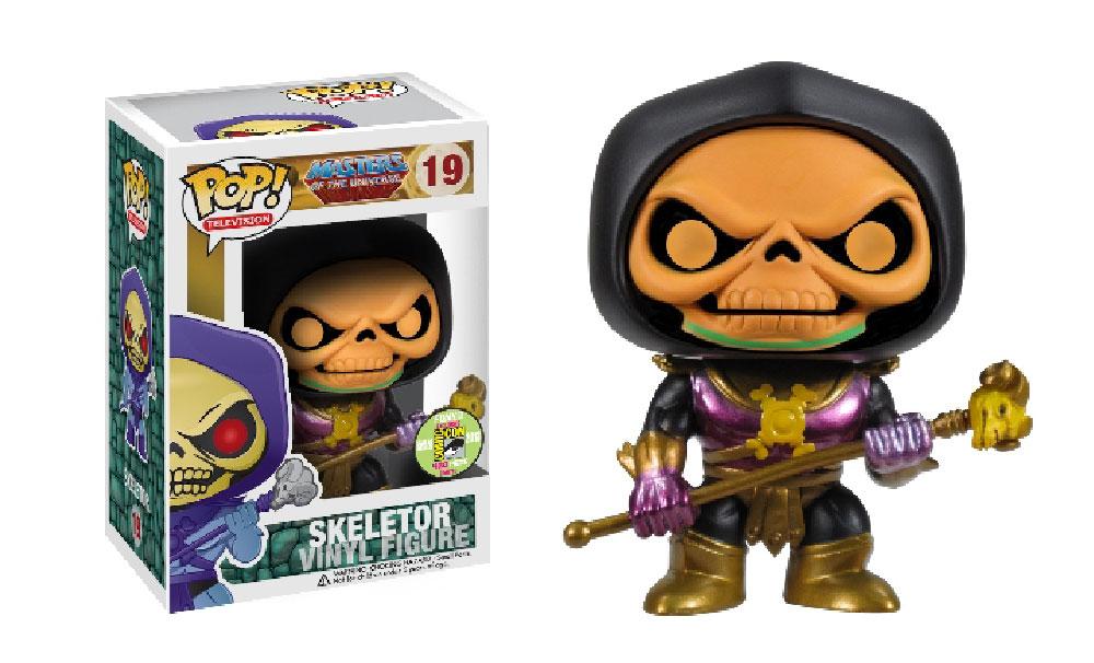 Muñeco Skeletor Black Hood Disco de Funko Pop