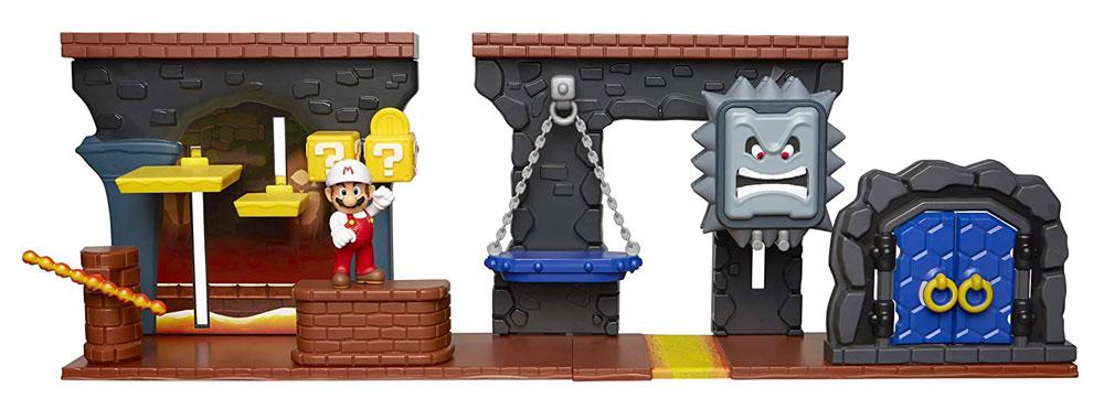 Muñeco de Super Mario con Deluxe Dungeon Playset Jakks