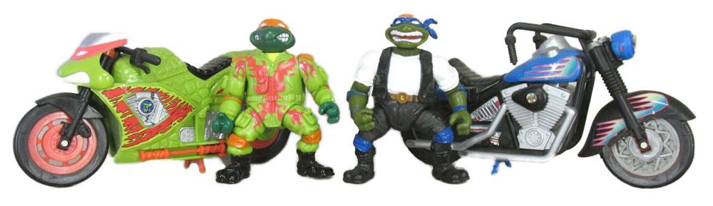 Muñecos de las Tortugas Ninja Bodacious Biker Turtles TMNT