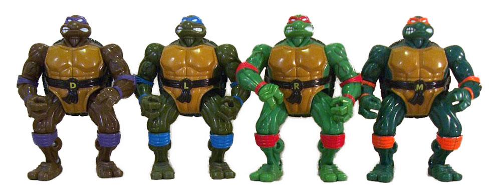 Muñecos de las Tortugas Ninja Coil Force Turtles TMNT