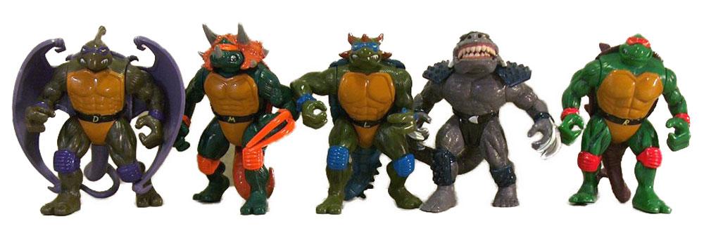 Muñecos de las Tortugas Ninja Dino TMNT