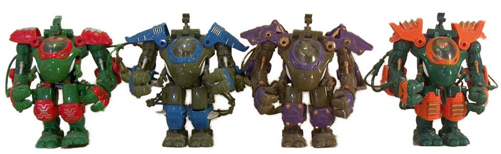 Muñecos de las Tortugas Ninja Muta Force Turtles TMNT