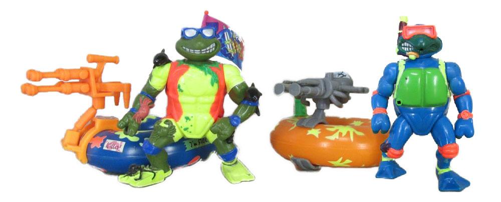 Muñecos de las Tortugas Ninja Sewer Surfin' Ninja Tubes TMNT
