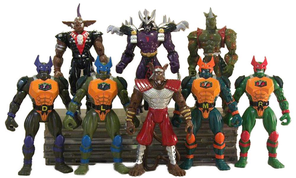 Muñecos de las Tortugas Ninja Supermutants TMNT