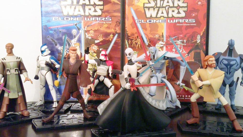 Muñecos de Star Wars Clone Wars