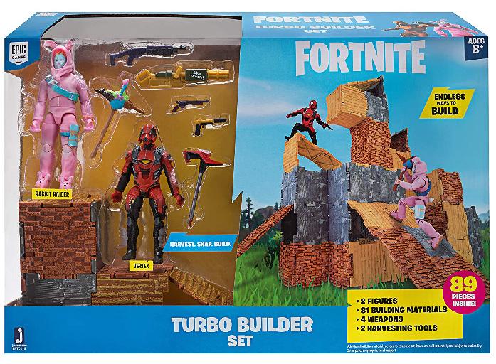 Muñecos de Fortnite Turbo Builder Set: Rabbit Raider & Vertex
