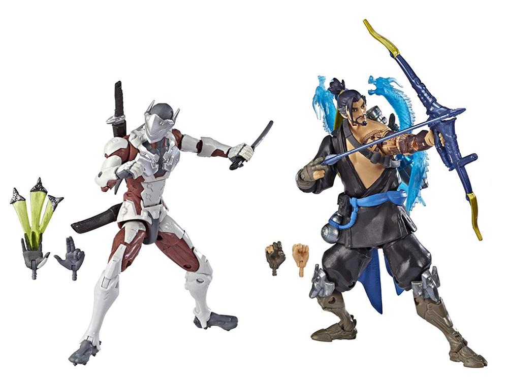 Muñecos de Genji y Hanzo Overwatch Ultimates