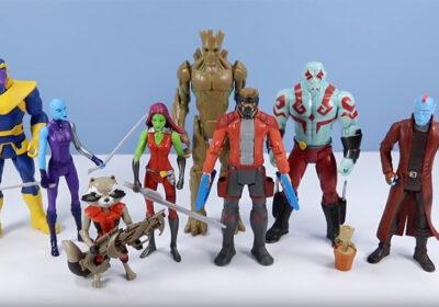 Muñecos de Guardianes de la Galaxia