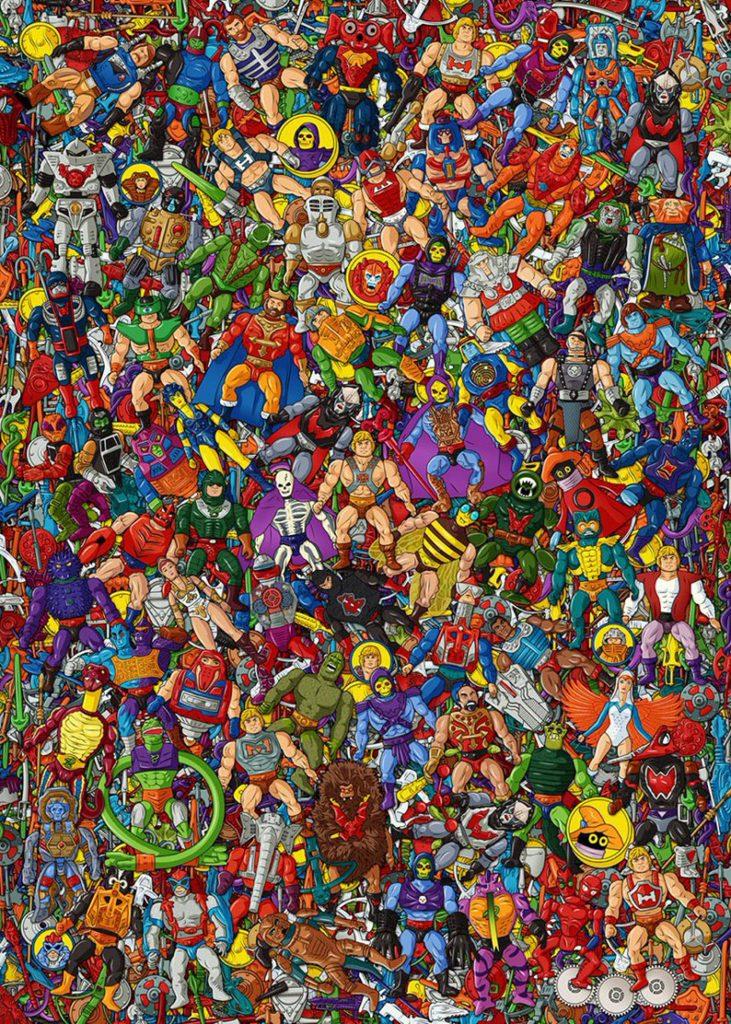 Muñecos de He-Man póster