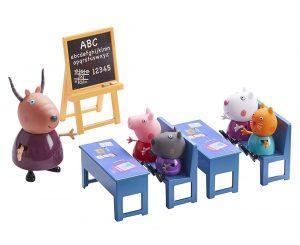 Set de muñecos escuela de Peppa Pig