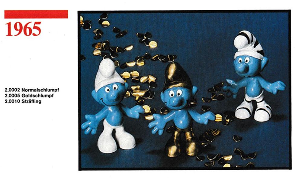 Muñecos de los Pitufos 1965 Schleich
