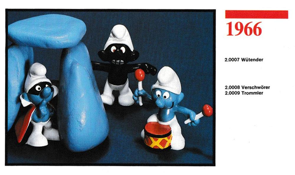 Muñecos de los Pitufos 1966 Schleich