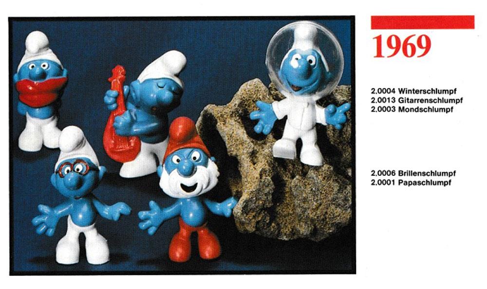 Muñecos de los Pitufos 1969 Schleich