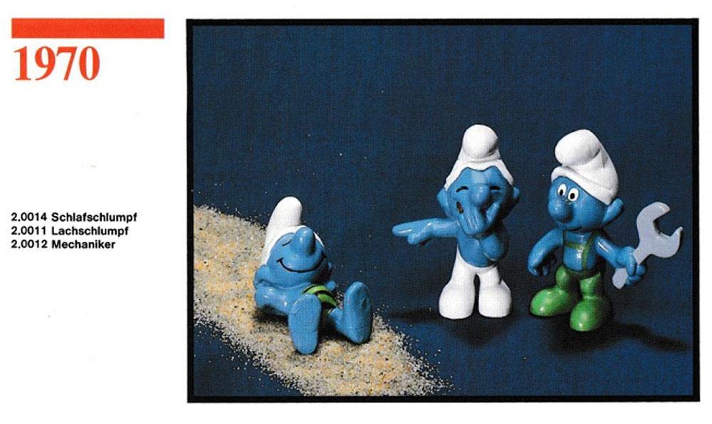 Muñecos de los Pitufos 1970 Schleich