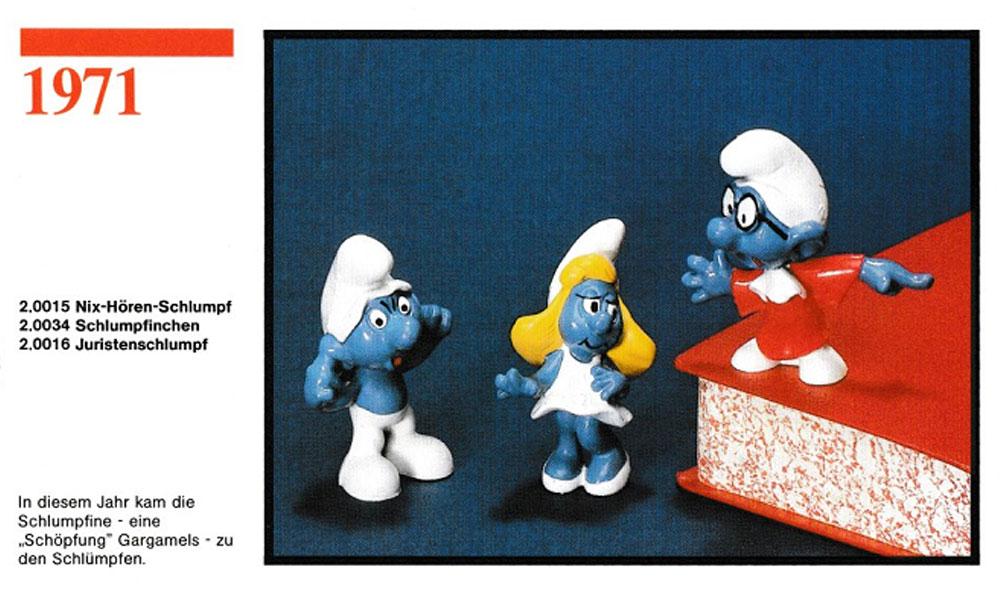 Muñecos de los Pitufos 1971 Schleich