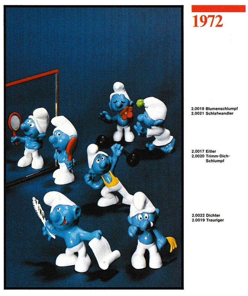 Muñecos de los Pitufos 1972 Schleich