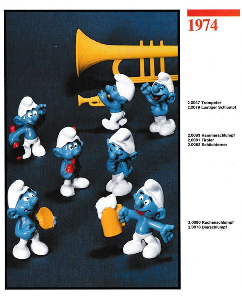 Muñecos de los Pitufos 1974 Schleich