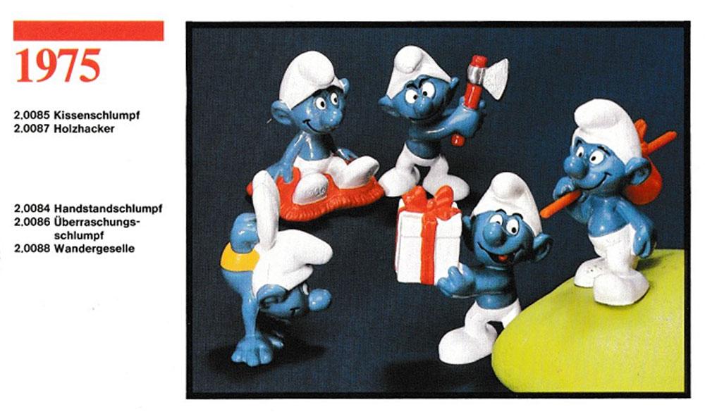 Muñecos de los Pitufos 1975 Schleich