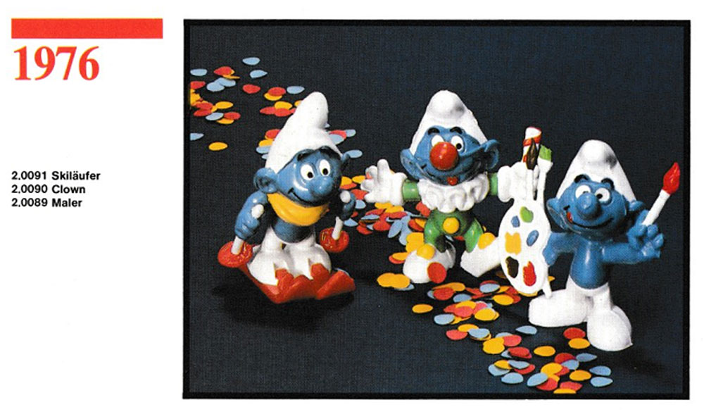 Muñecos de los Pitufos 1976 Schleich