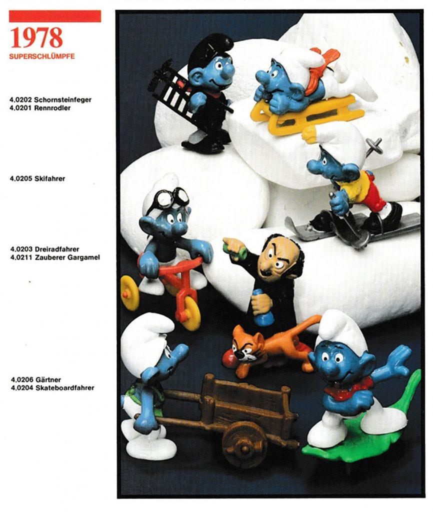 Muñecos de los Super Pitufos 1978 Schleich