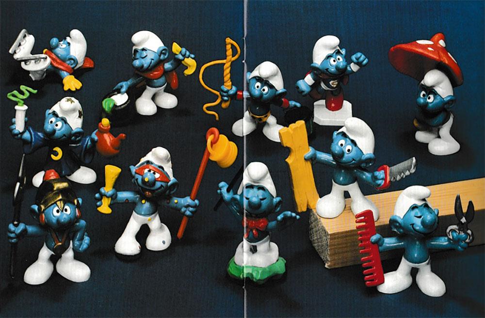 Muñecos de Los Pitufos de 1980