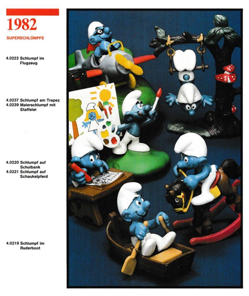 Muñecos de Los Pitufos 1982