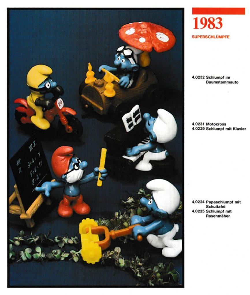 Muñecos de Los Pitufos 1983