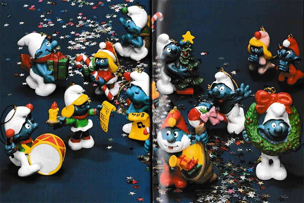 Muñecos de los Pitufos Navidad