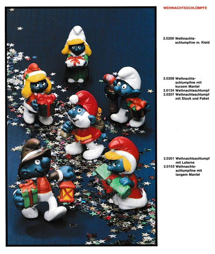 Muñecos de los Pitufos navideños