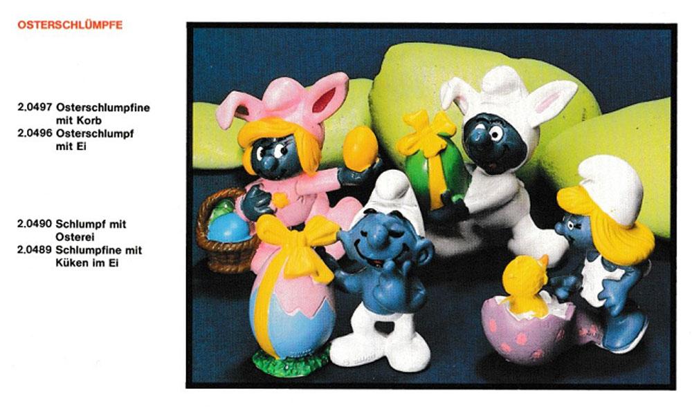 Muñecos de Los Pitufos Schleich Pascua