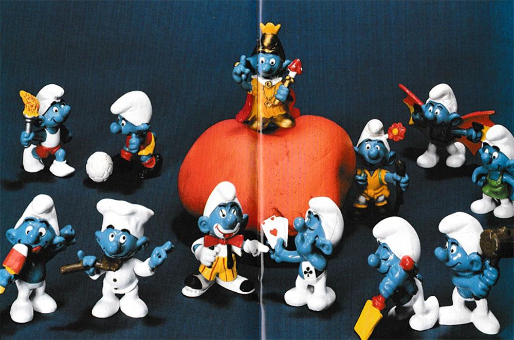 Muñecos de los Pitufos Schleich 1978