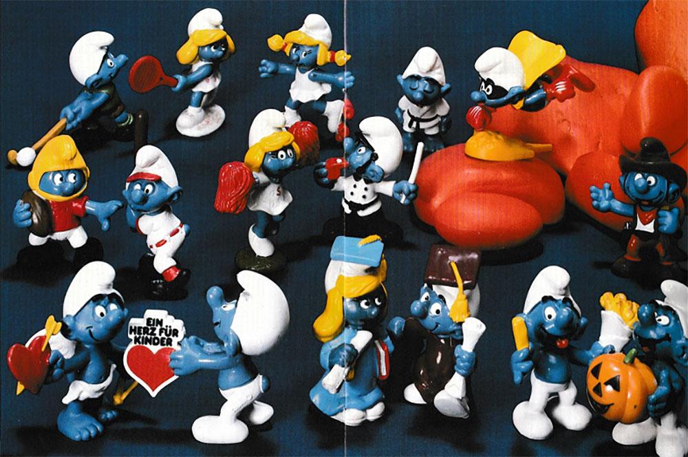 Muñecos de Los Pitufos Schleich 1981