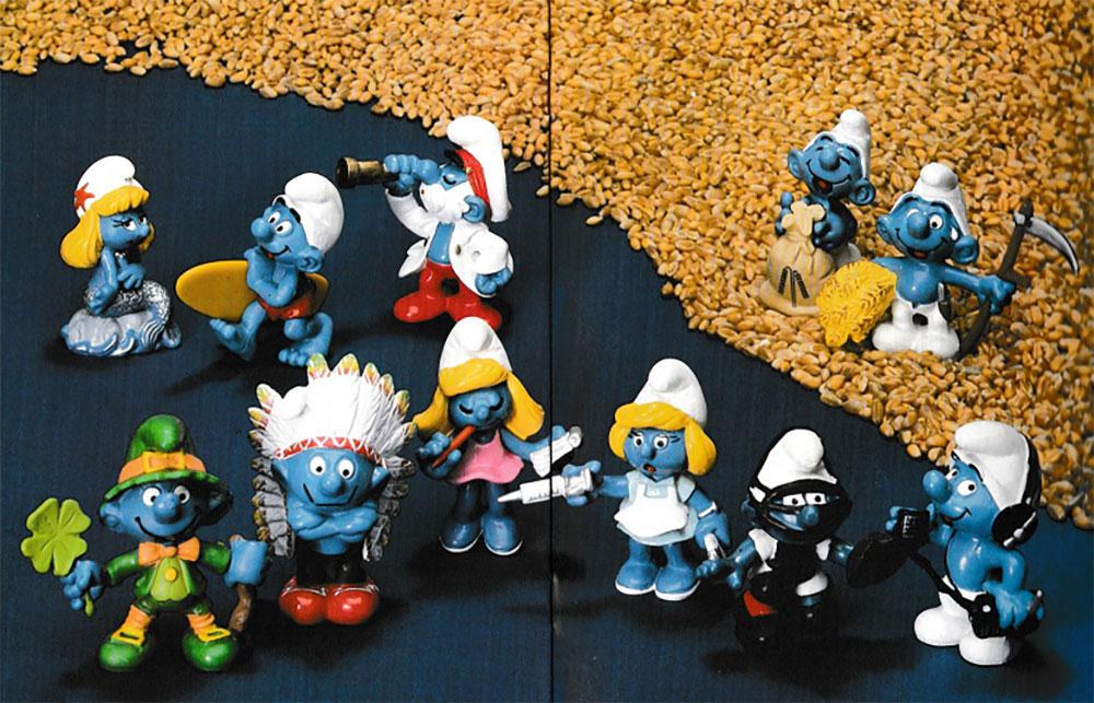 Muñecos de Los Pitufos Schleich 1982
