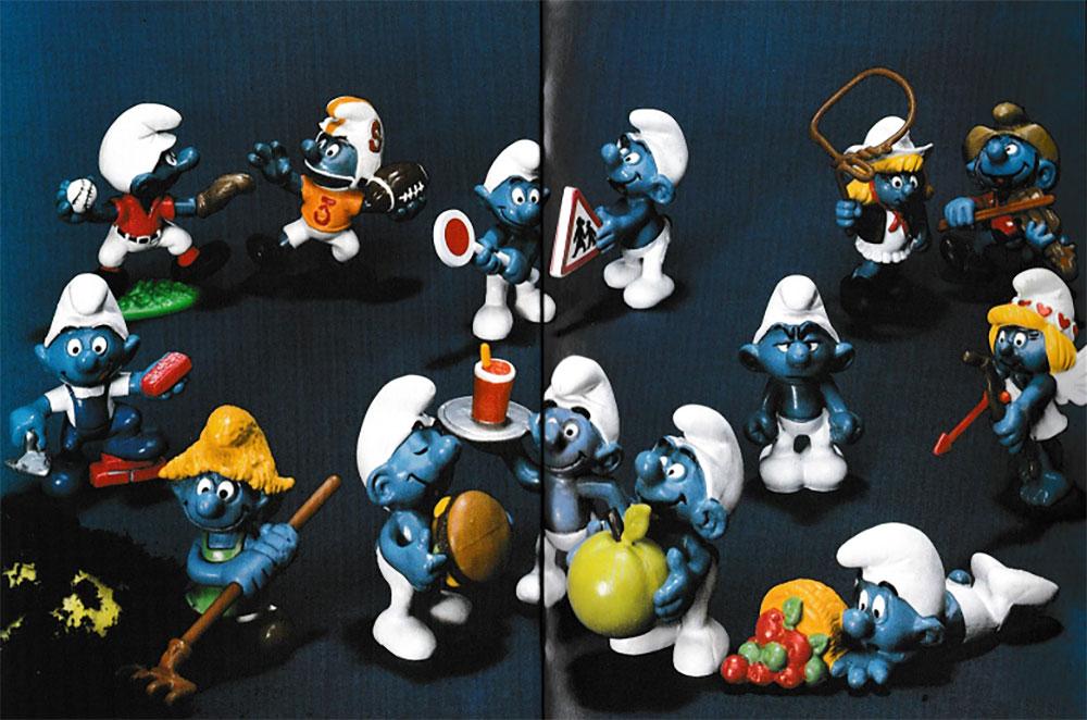 Muñecos de Los Pitufos Schleich 1983