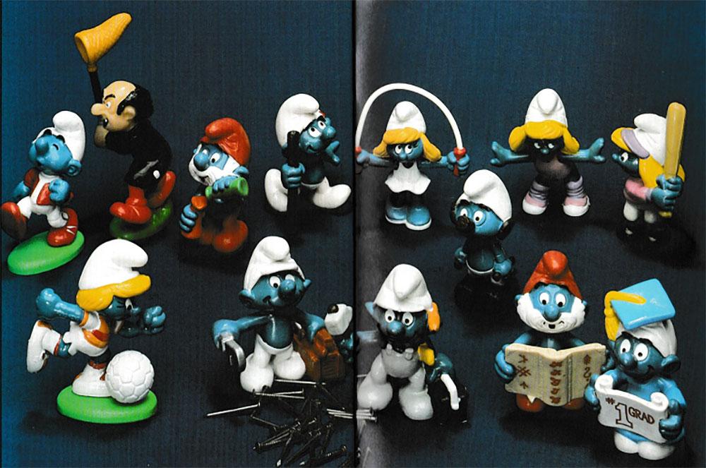 Muñecos de Los Pitufos Schleich 1984
