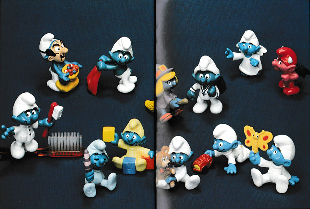 Muñecos de Los Pitufos Schleich 1985