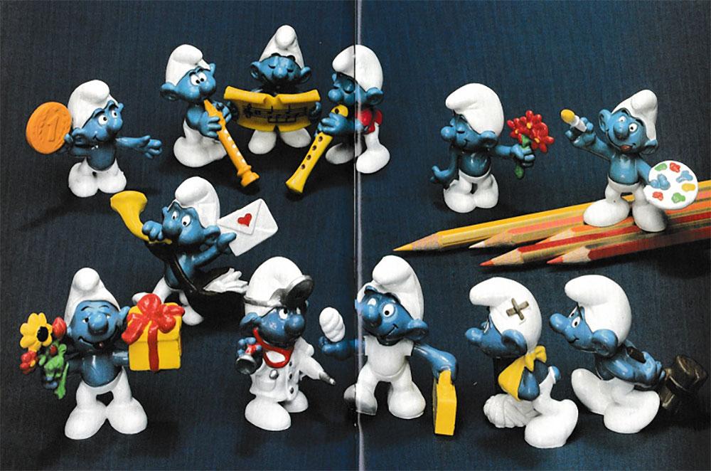 Muñecos de los Pitufos 1978