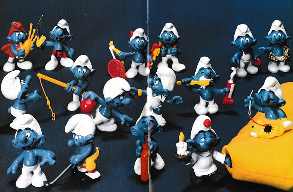 Muñecos de Los Pitufos 1979