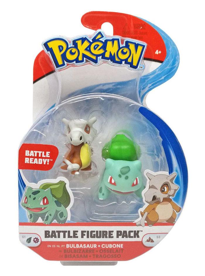 Muñecos Pokémon Bulbasaur y Cubone