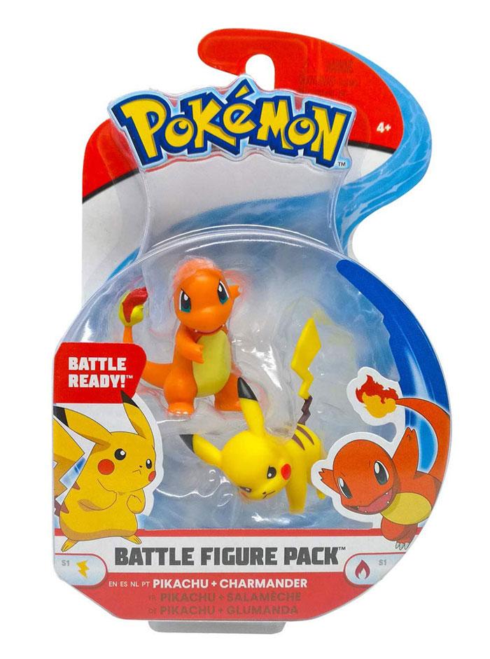 Muñecos Pokémon Pikachu y Charmander