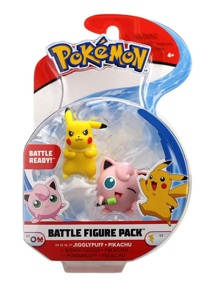Muñecos Pokémon Pikachu y Jifflypuff