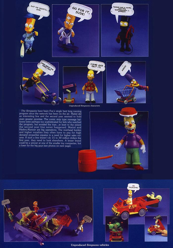 Muñecos de Los Simpson Mattel 1990 Series 2