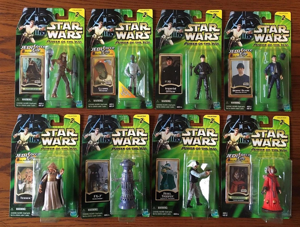 Muñecos de Star Wars Power of the Jedi o POTJ
