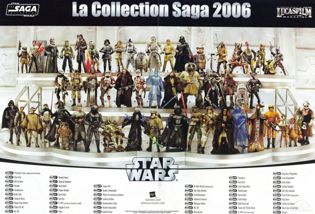 Muñecos de Star Wars The Saga Collection