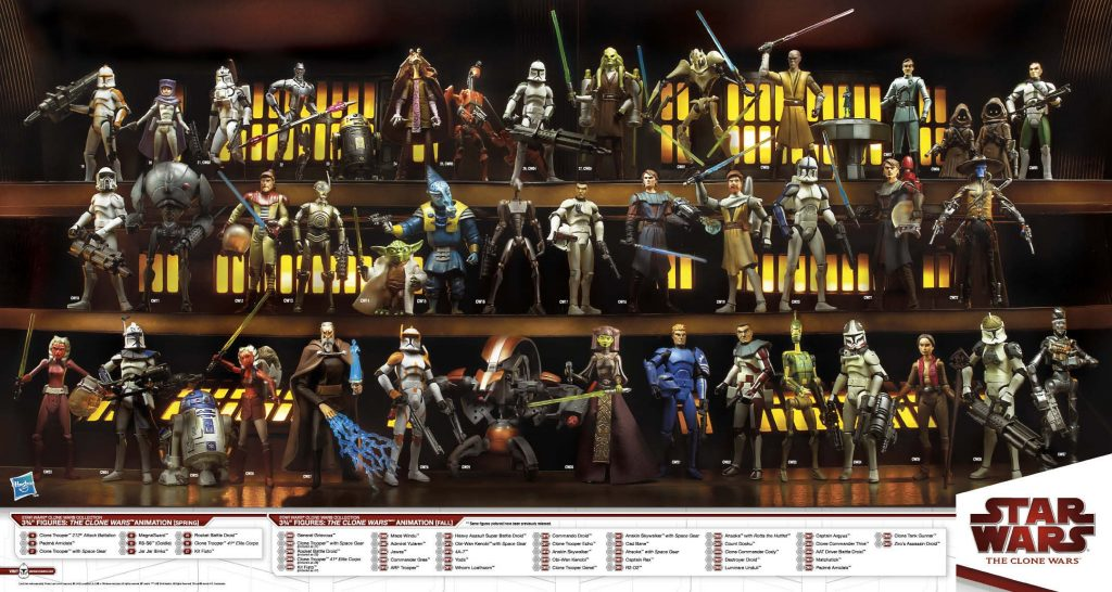 Muñecos de Star Wars The Clone Wars