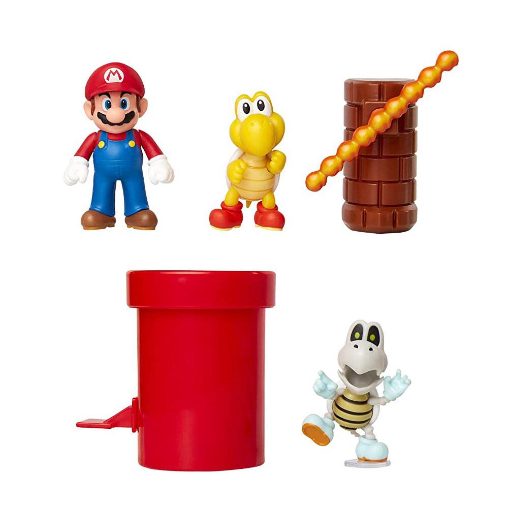 Muñecos de Super Mario Dungeon Diorama Set Jakks