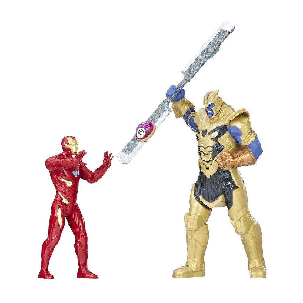 Muñecos de Thanos y Iron Man Hasbro