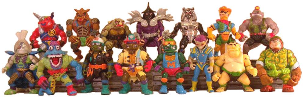 Muñecos de las Tortugas Ninja vintage 1991 TMNT