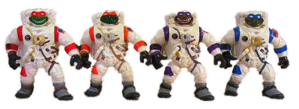 Muñecos de las Tortugas Ninja vintage Apollo 11 TMNT